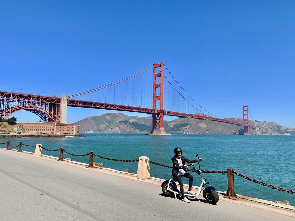 Golden Gate Tour en Scooter