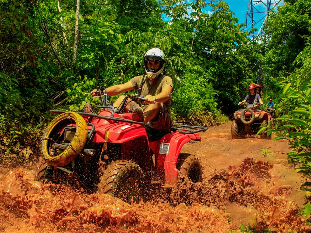 Tour en ATV, Tirolesas y Cenote